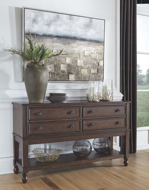 Adinton - Reddish Brown - Dining Room Server