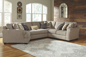 Pantomine - Driftwood - LAF Cuddler, Armless Loveseat, Wedge & RAF Loveseat Sectional