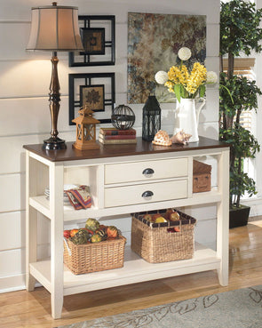 Whitesburg - Brown/Cottage White - Dining Room Server