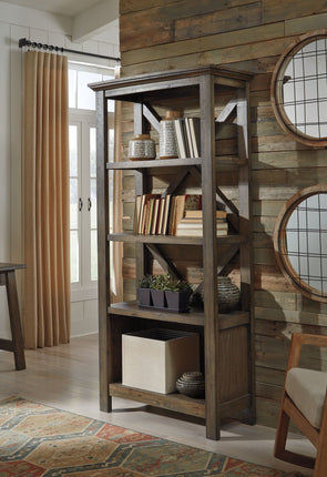 Johurst - Gray - Large Bookcase