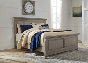 Lettner - Light Gray -  Panel Bed