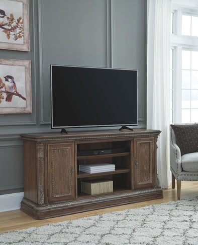 Charmond - Brown - XL TV Stand w/Fireplace Option