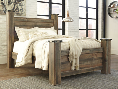 Trinell - Brown -  Poster Bed