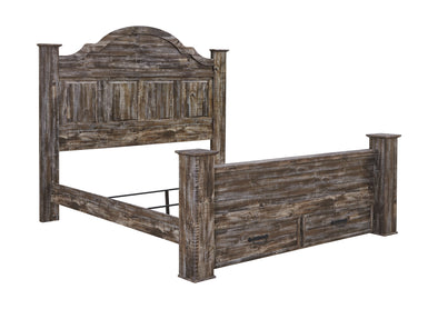 Lynnton - Rustic Brown - King Poster Storage Footboard