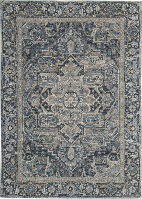Paretta - Cream/Navy/Gray - Medium Rug