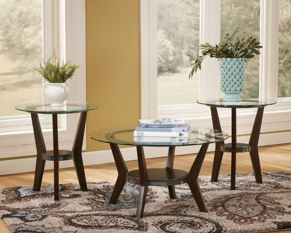Fantell - Dark Brown - Occasional Table Set (3/CN)