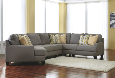 Chamberly - Alloy - LAF Cuddler, Armless Loveseat, Wedge & RAF Loveseat Sectional