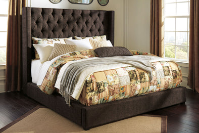 Norrister - Dark Brown -  UPH Bed