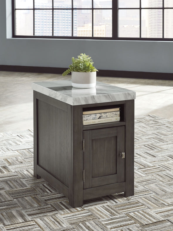 Vineburg - Gray/White - Rectangular End Table
