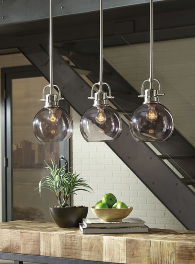 Johano - Gray - Glass Pendant Light (1/CN)