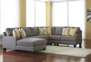 Chamberly - Alloy - LAF Corner Chaise, Armless Loveseat, Wedge & RAF Loveseat Sectional