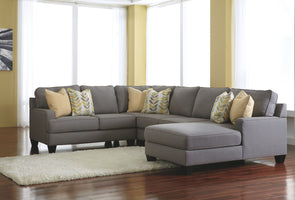 Chamberly - Alloy - LAF Loveseat , Wedge, Armless Loveseat & RAF Corner Chaise Sectional