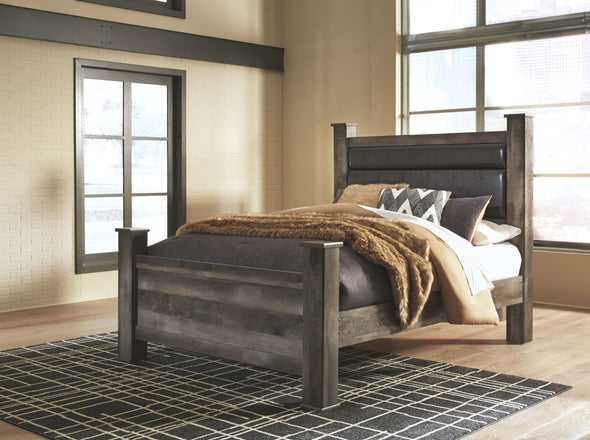 Wynnlow - Gray -  UPH Poster Bed