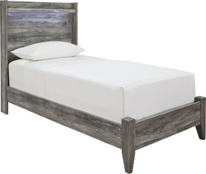 Baystorm - Gray -  Panel Bed