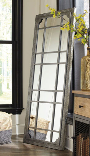 Remy - Antique Gray - Floor Mirror