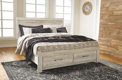 Bellaby - Whitewash -  Panel Storage Bed