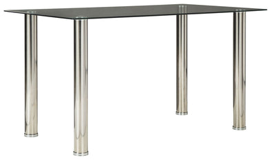 Sariden - Chrome Finish - Rectangular Dining Room Table