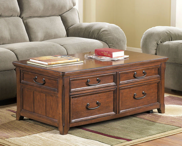 Woodboro - Dark Brown - Lift Top Cocktail Table