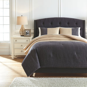 Medi - Charcoal/Sand - King Comforter Set