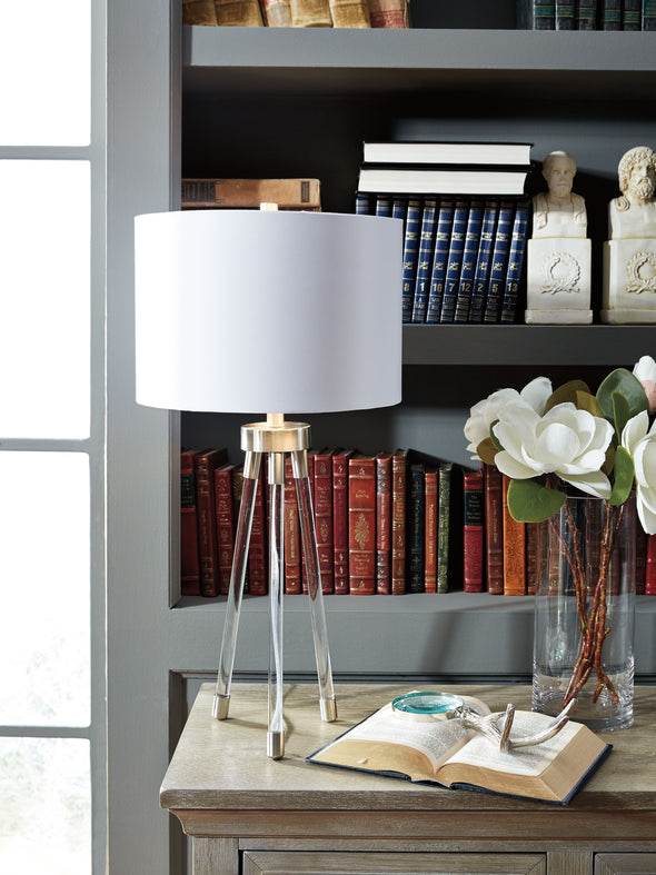 Idalia - Clear/Silver Finish - Acrylic Table Lamp (1/CN)