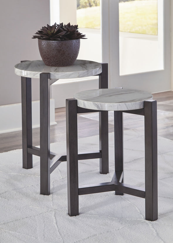 Crossport - Gray/White/Brown - Accent Table Set (2/CN)