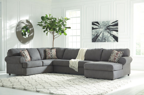 Jayceon - Steel - LAF Sofa, Armless Loveseat & RAF Corner Chaise Sectional