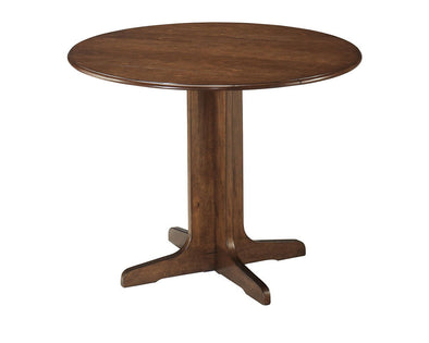 Stuman - Medium Brown - Round Drop Leaf Table