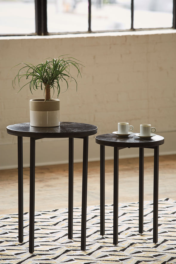 Esterdale - Brown/Black - Accent Table Set (2/CN)