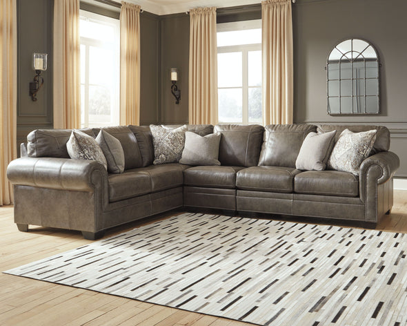 Roleson - Quarry - LAF Sofa with Corner Wedge, Armless Chair & RAF Loveseat Sectional