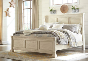 Bolanburg - Antique White -  Louvered Bed