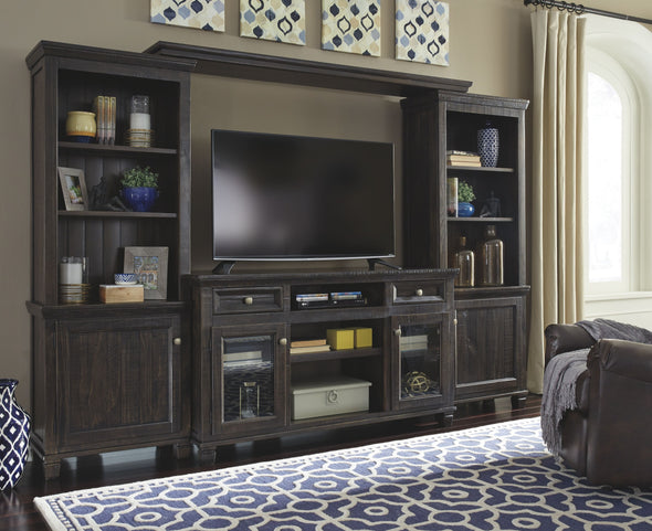 Townser - Entertainment Center - LG TV Stand, Left/Right Piers & Bridge