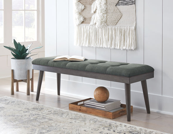 Ashlock - Charcoal/Brown - Accent Bench