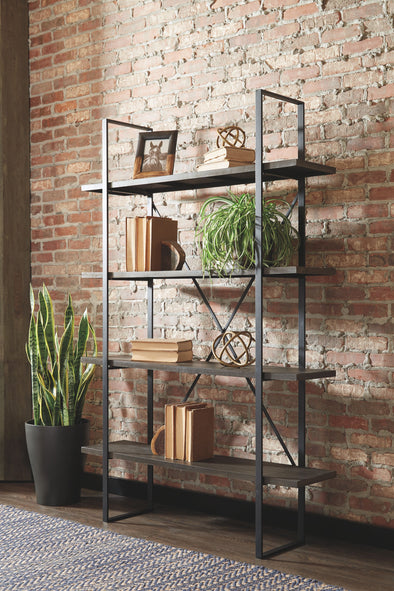 Gilesgrove - Black/Gray - Bookcase