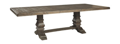 Wyndahl - Rustic Brown - RECT DRM Extension Table Base
