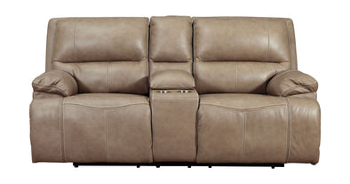 Ricmen - Putty - PWR REC Loveseat/CON/ADJ HDRST