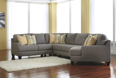 Chamberly - Alloy - LAF Loveseat , Wedge, Armless Loveseat & RAF Cuddler Sectional
