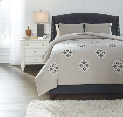 Jawanza - Gray - Queen Comforter Set