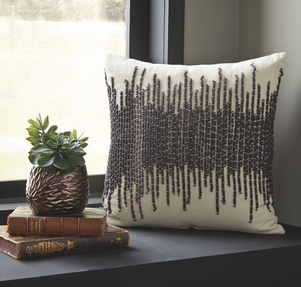 Warneka - Charcoal/Cream - Pillow (4/CS)