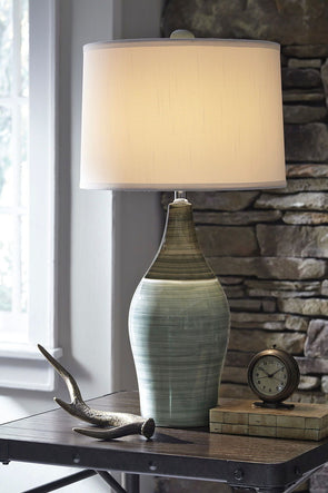 Niobe - Multi Gray - Ceramic Table Lamp (2/CN)