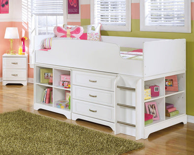 Lulu - White - Twin Loft Bed