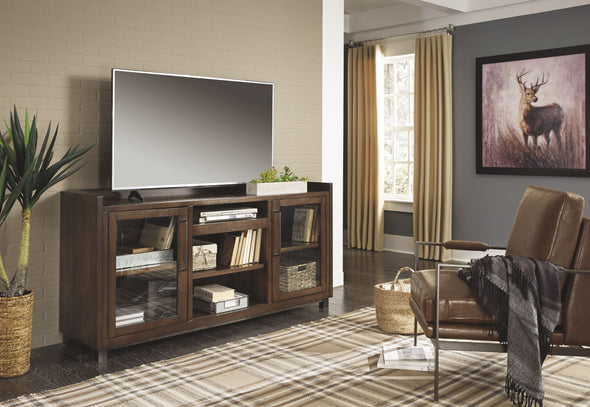 Starmore - Brown - XL TV Stand w/Fireplace Option