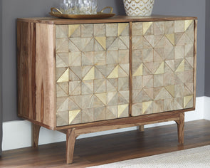 Carolmore - Brown/Gold - Accent Cabinet