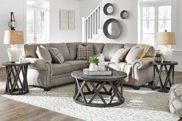 Olsberg - Steel - LAF Loveseat & RAF Sofa with Corner Wedge Sectional