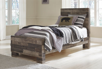 Derekson - Multi Gray -  Panel Bed