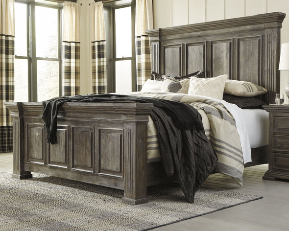 Wyndahl - Rustic Brown -  Panel Bed