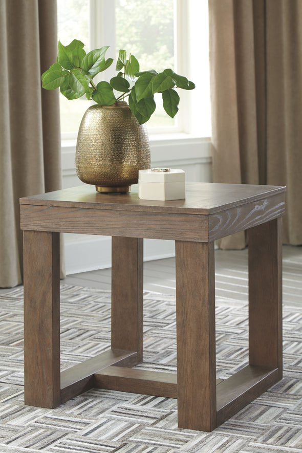 Cariton - Gray - Square End Table