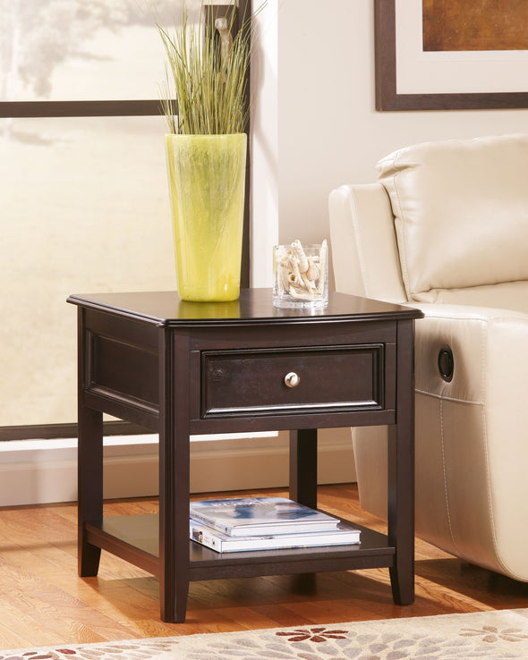 Carlyle - Almost Black - Rectangular End Table