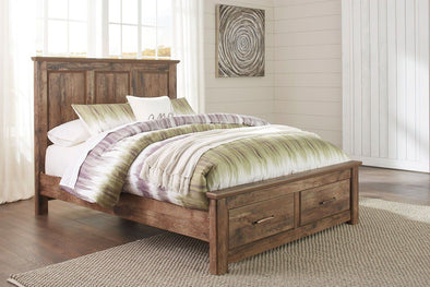 Blaneville - Brown -  Storage Bed