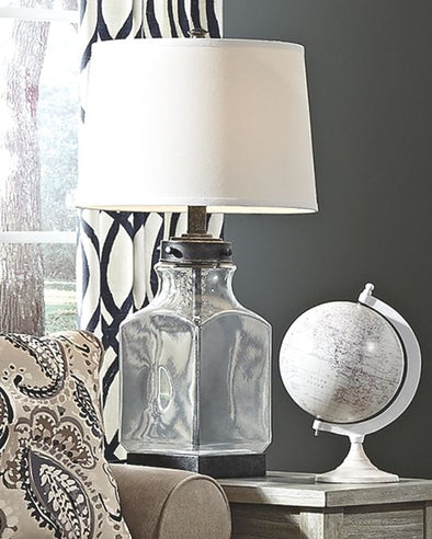 Sharolyn - Transparent/Silver Finish - Glass Table Lamp (1/CN)