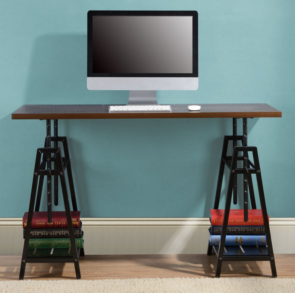 Irene - Dark Brown - Adjustable Height Desk